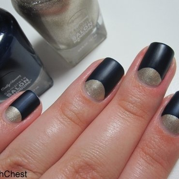 Wintery Half Moon nail art by Danny
