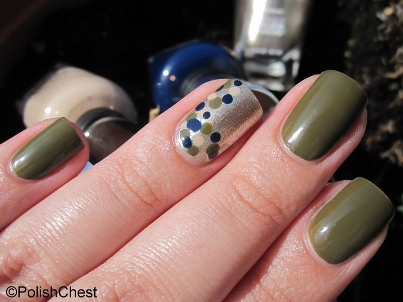 Fall-ish Dotticure nail art by Danny