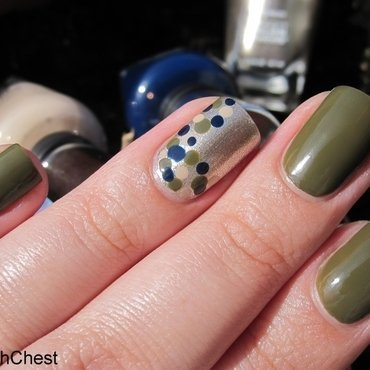 Fall-ish Dotticure nail art by Danny