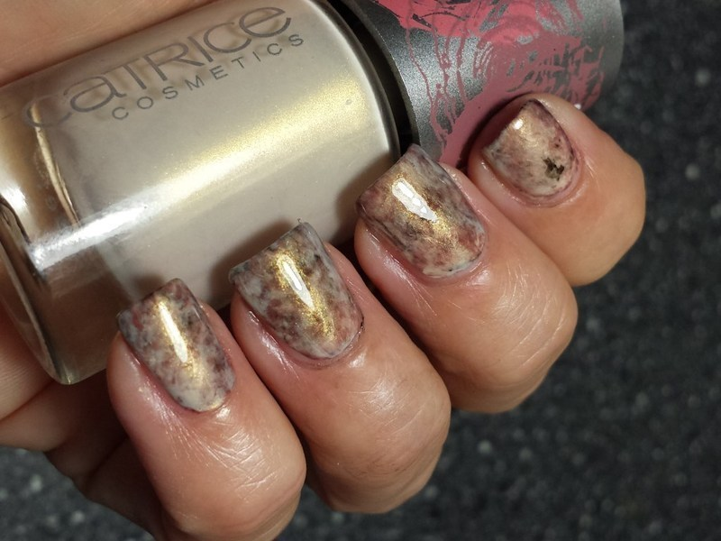 Brown Plastic Wrap manicure nail art by Marielle
