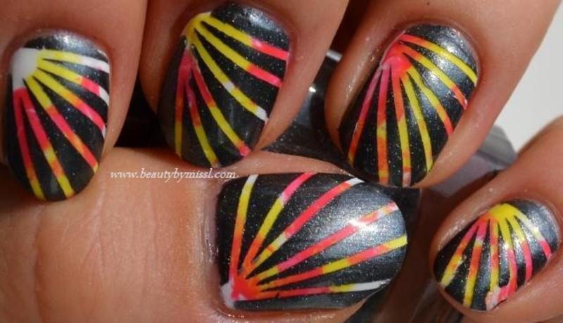 Laserlights by Beauty by Miss L nail art by MissL