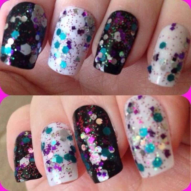 New year nails nail art by Tara Clapperton
