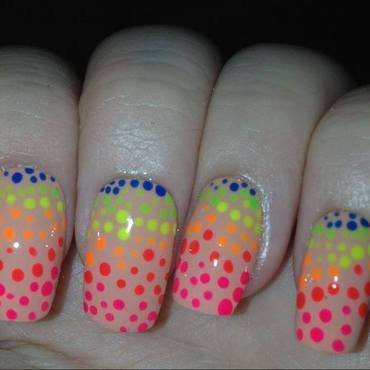 Neon nails nail art by Tara Clapperton