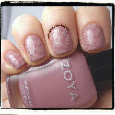 Zoya Bridgette & Chevrons nail art by Sarah Lynn Bernardo