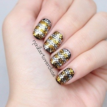 Glitter placement nail art by nailartoverdose