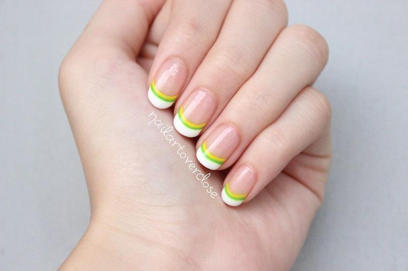 Fresh french manicure nail art by nailartoverdose