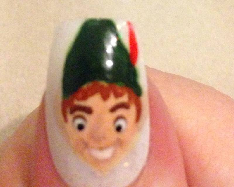 Peter pan nail art by Tara Clapperton