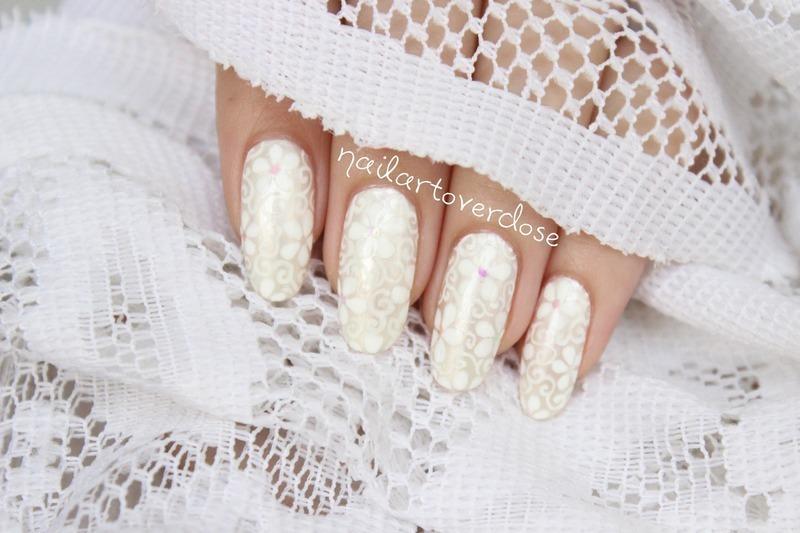 Lacey floral nail art by nailartoverdose