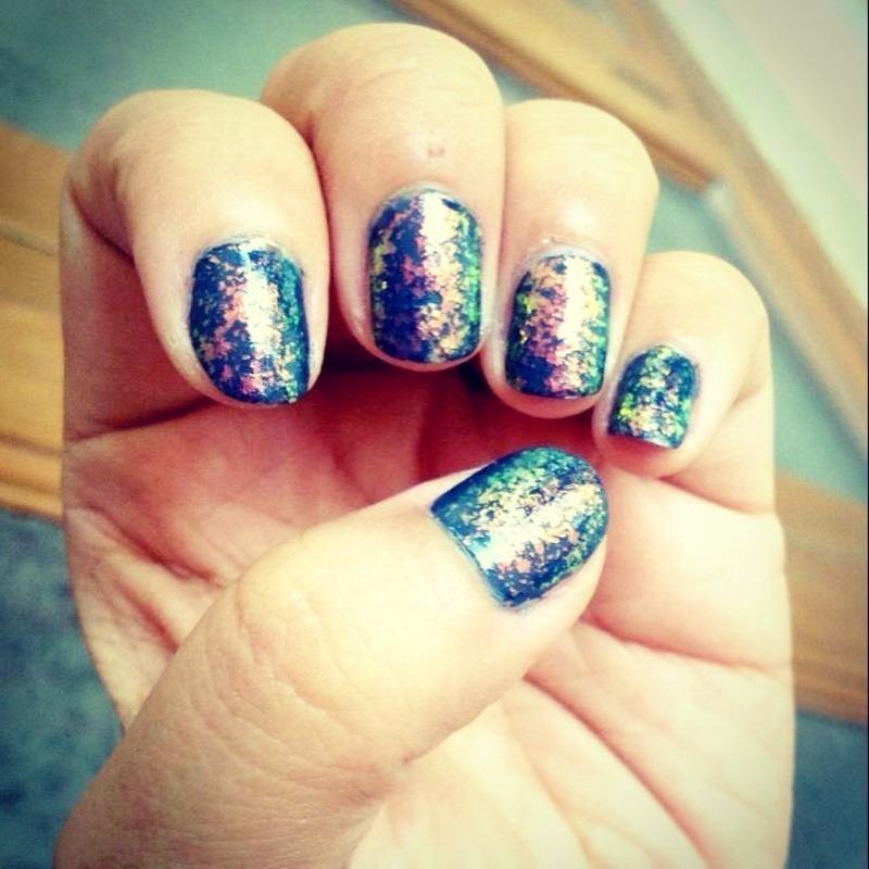 Aurora  nail art by Titi Yangzom