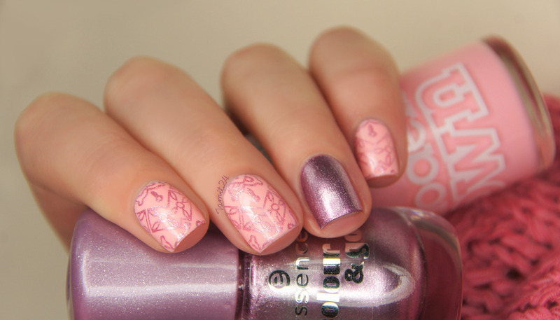 Pink Stamping Nails nail art by Paulina