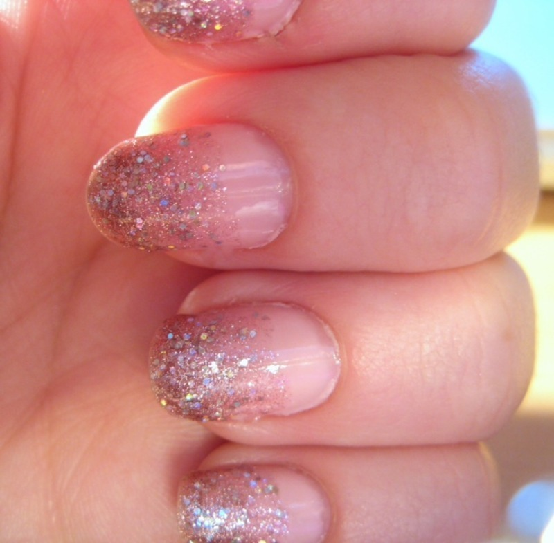 Ombre Nails Pink Glitter Pink Ombre Nail Art