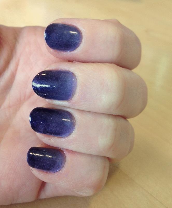 Purple Ombre  nail art by Carolyn
