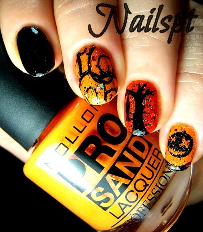 Halloween nail art by Ana