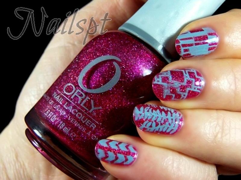 Glitter glam nail art by Ana