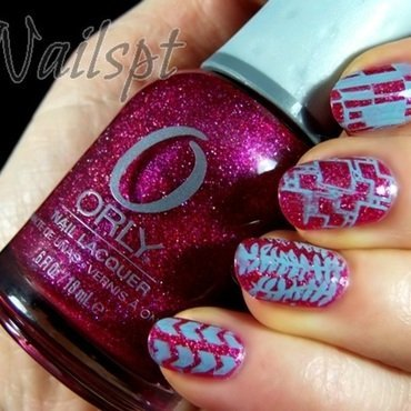 Glitter glam nail art by Ana
