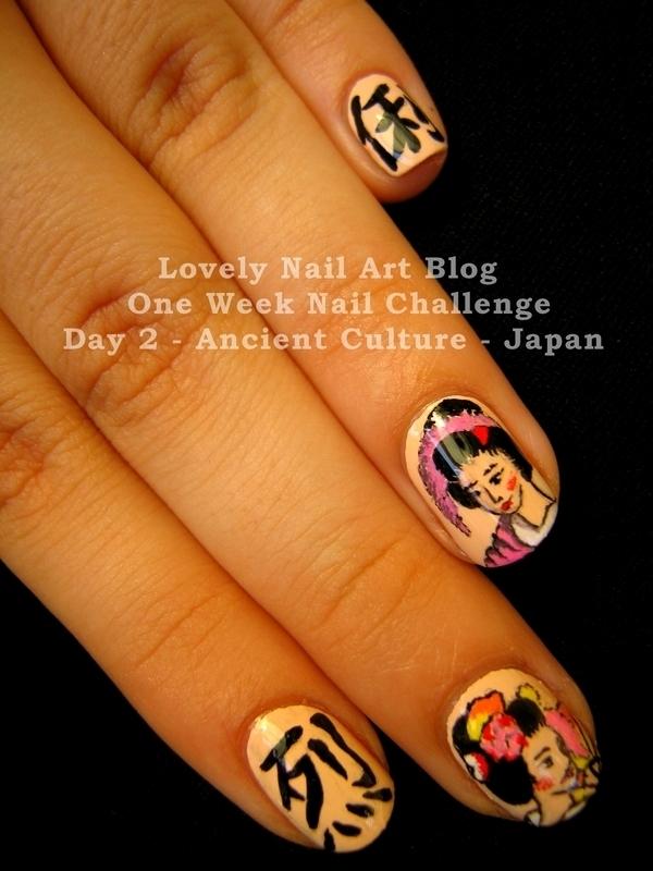 Japan Nail Design nail art by Boglarka Tornai