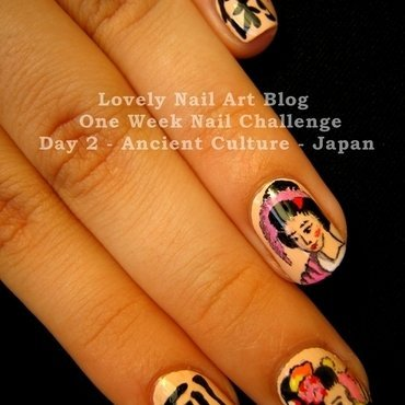 Japan Nail Design nail art by Boglarka Tornai