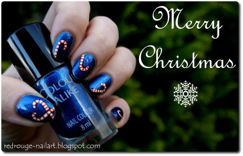 Christmas nails nail art by Gdańsk