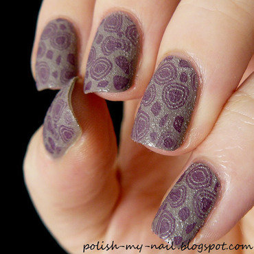 Stamped nail art by Ewlyn