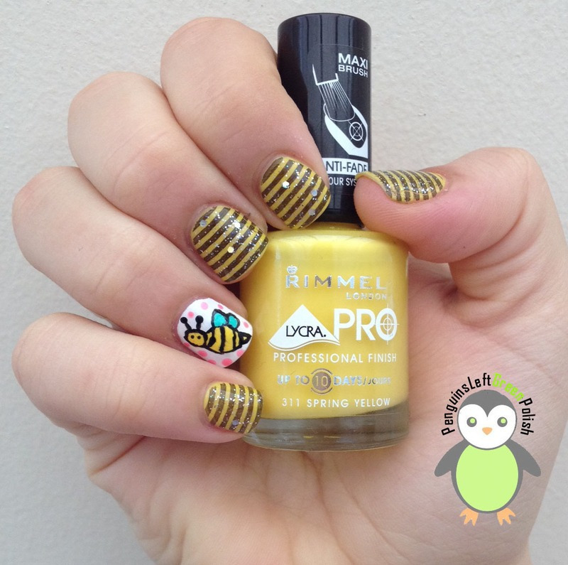 Bee Nail's nail art by Nada