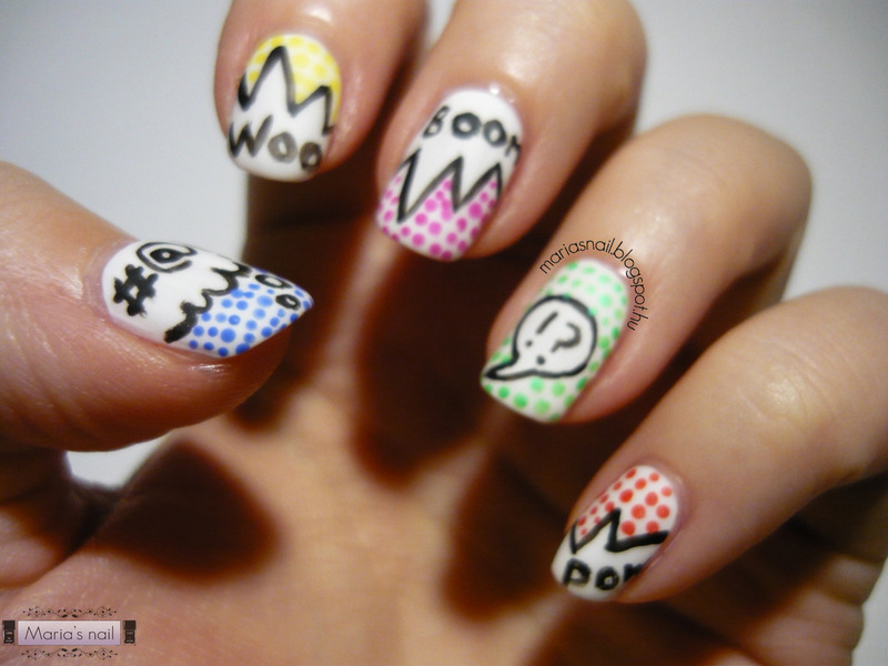 Comics nail art by Maria