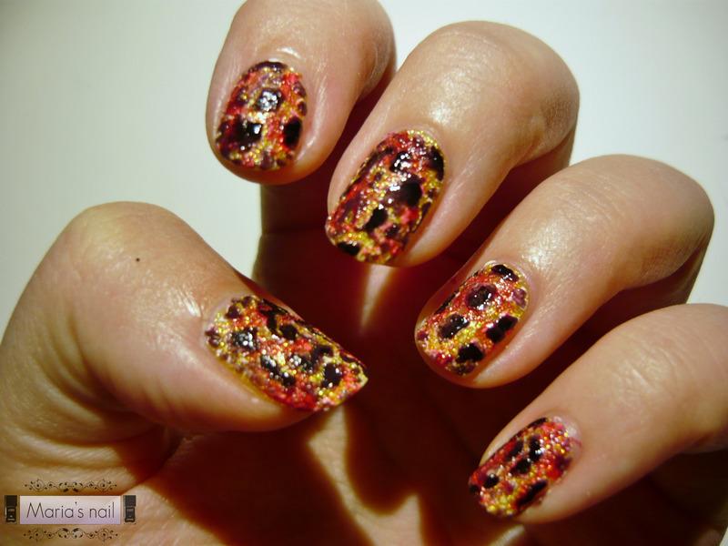 Vulcano nail art by Maria