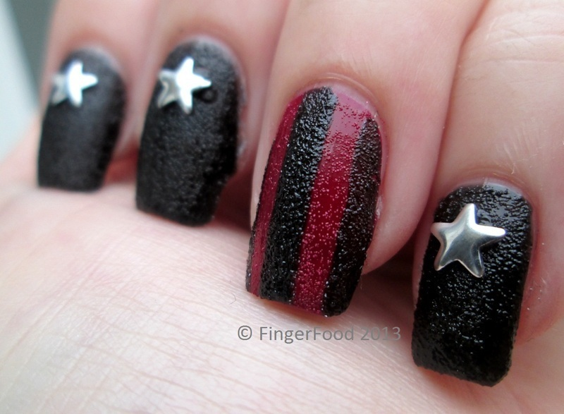 Dark Stars & Stripes nail art by Sam