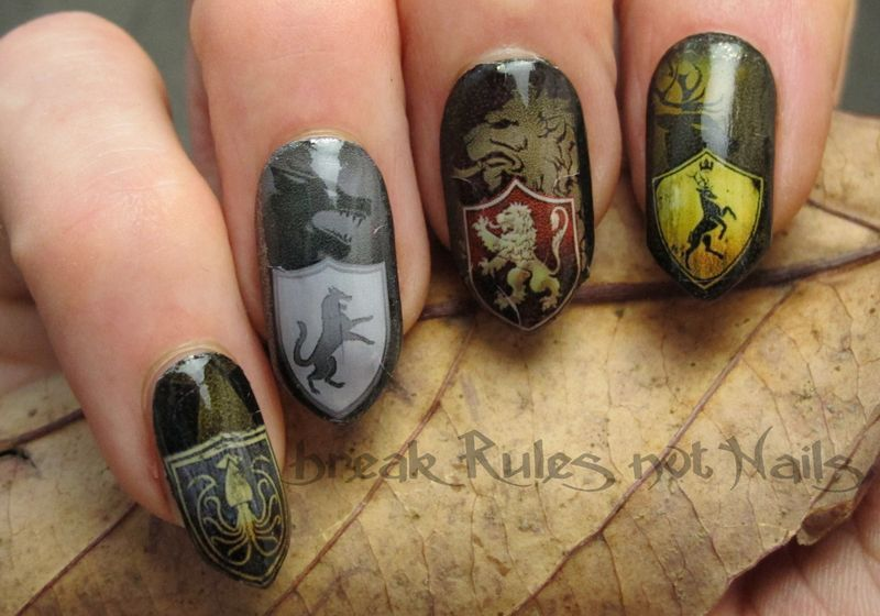Game Of Thrones inspired nails nail art by Michelle