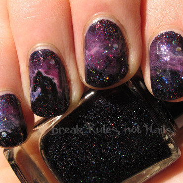 Horsehead Nebula nail art by Michelle