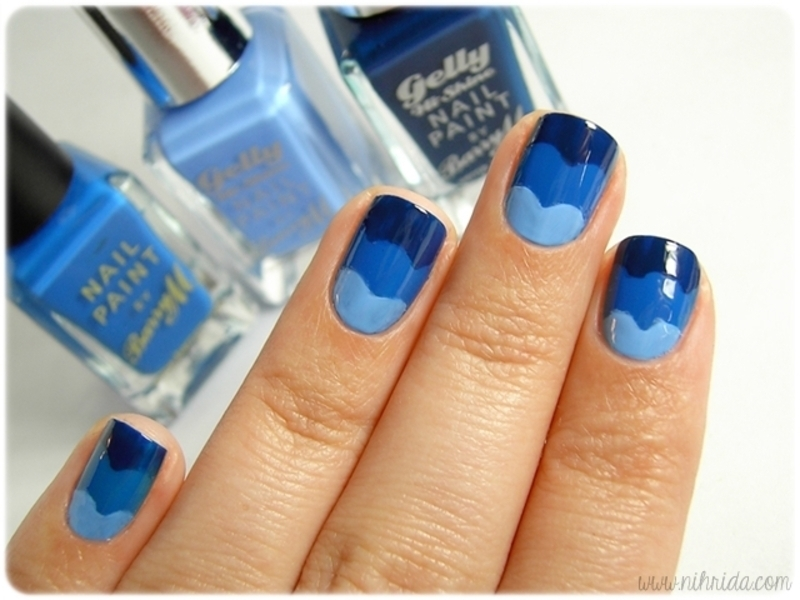 Sea Waves nail art by nihrida