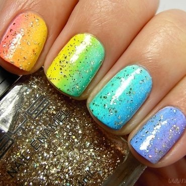 At the End of the Rainbow nail art by nihrida