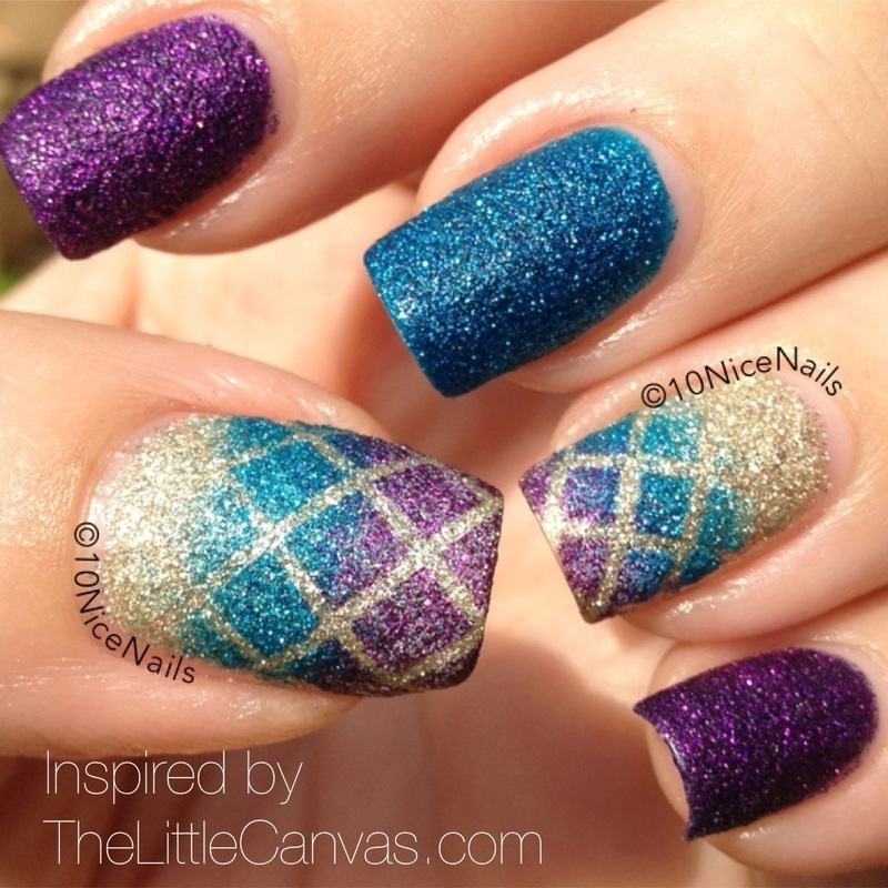 Pixie Dust Gradient nail art by Martha 10NiceNails