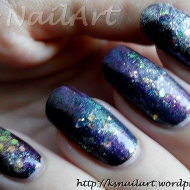 "Galaxy Nails nail art by Kairi E ""K's NailArt"""