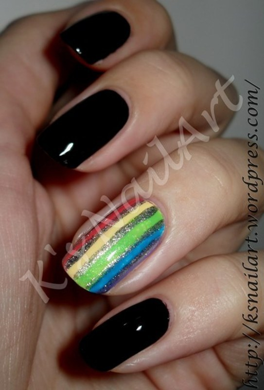 "Rainbow Nails nail art by Kairi E ""K's NailArt"""