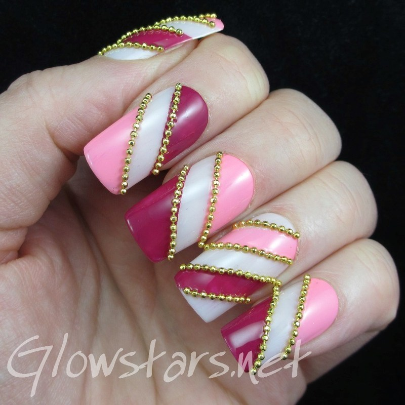 The Digit-al Dozen Does Monochrome: Pink nail art by Vic 'Glowstars' Pires