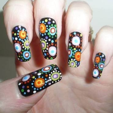Dots, dots dots nail art by Tracey - Bite no more