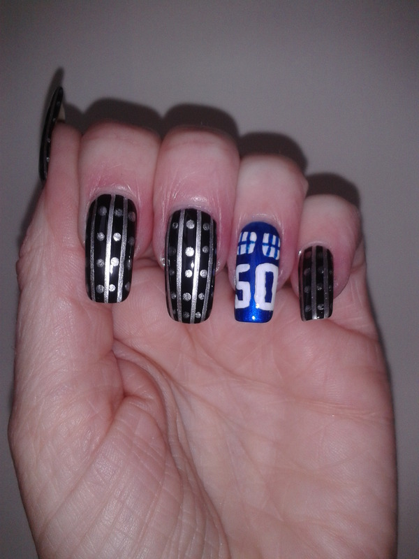 Dr Who 50th anniversary nail art by Tracey - Bite no more ...