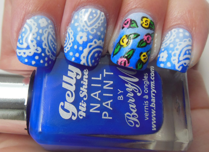 Paisley Gradient nail art by Lyndsey