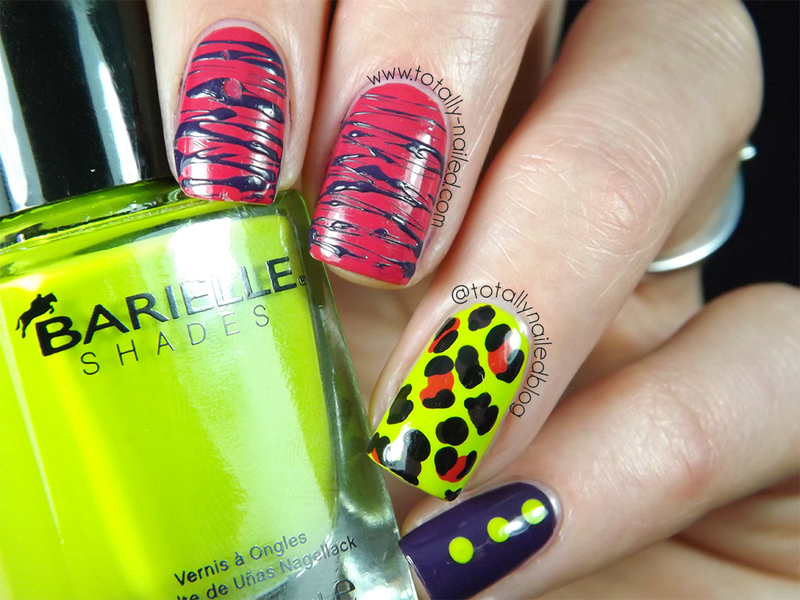 All the colour! nail art by Danielle