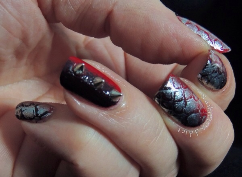 Dinosaurs  nail art by Viv