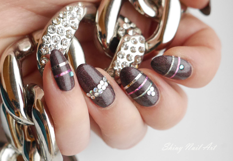 Bling Ring nail art by Shiny