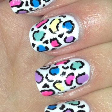 Rainbow Leopard Print nail art by Lyndsey