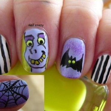 beetlejuice, beetlejuice, beetlejuice nail art by Žana