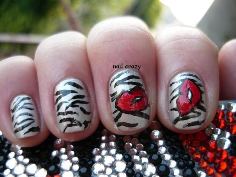 inspired by make up... or my old mobile phone's cover nail art by Žana