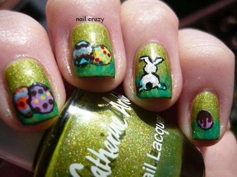 easter manicure nail art by Žana
