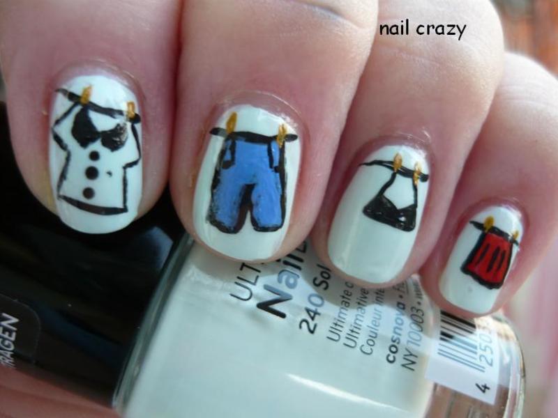 laundry day nail art by Žana