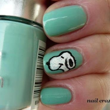 snoopy nail art by Žana