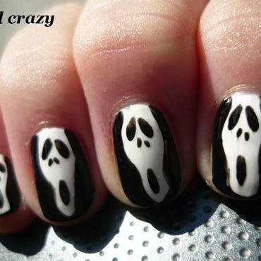 scary movie nail art by Žana