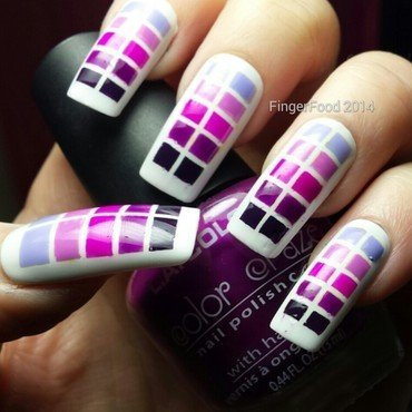 Geometric for FingerFood's Theme Buffet nail art by Sam