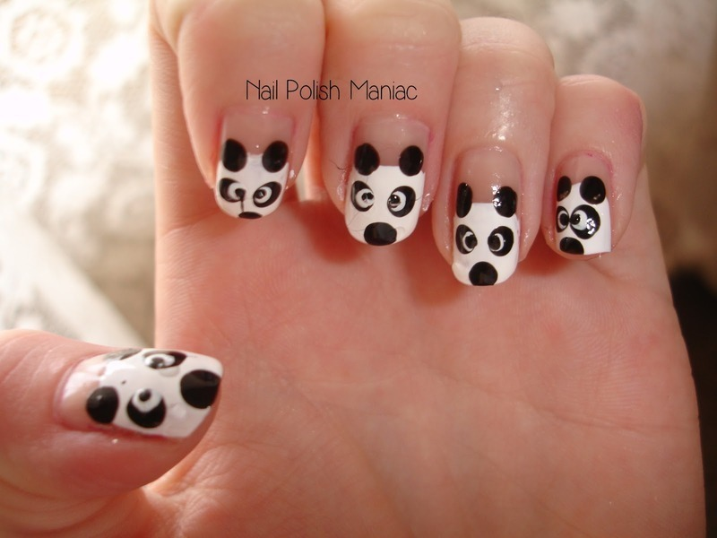 Happy Pandas nail art by Tímea Medgyesi